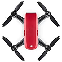 DJI CP.PT.000735 Spark Palm launch, Intelligent Portable Mini Drone, Lava Red
