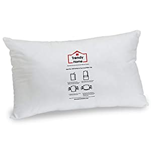 Trendy Home 12×20 Premium Hypoallergenic Stuffer Home Office Decorative Throw Pillow Insert, Standard/White (12×20)