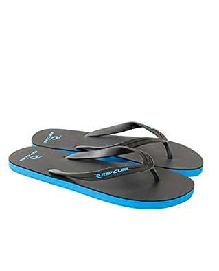 Rip Curl Mens MC Thong Sandals, Black/Blue, 7 AU