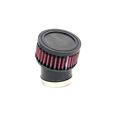 K&N RU-1750 Universal Clamp-On Air Filter: Round Straight; 2.438 in (62 mm) Flange ID; 4 in (102 mm) Height; 3.75 in (95 mm) Base; 3.75 in (95 mm) Top
