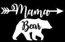 [Mama Bear Mom Life Decal Vinyl Sticker|Cars Trucks Vans Walls Laptop| White |5.5 x 3.5 in|LLI349] (But Mommy Costumes)
