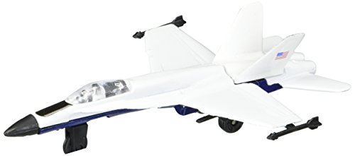 Hot Wings F-18 Hornet (White Markings) with Connectible Runway