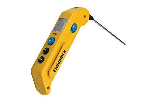 Fieldpiece SPK2 Folding Pocket In-Duct Thermometer with MAX/MIN Hold and Stainless Steel Probe