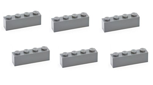 Lego Parts: Brick 1 x 4 (PACK of 6 - DBGray) (Freeze 24/7 4 Piece)