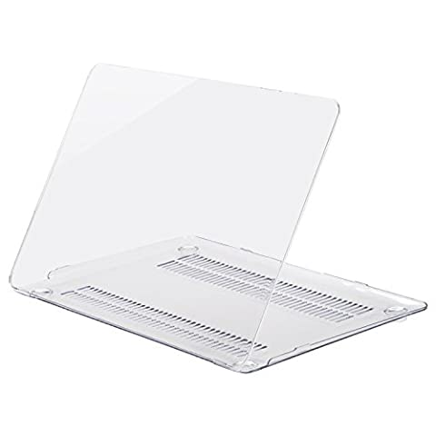 Mosiso Plastic Hard Case Cover for MacBook 12 Inch with Retina Display Model A1534 (Version 2017/2016/2015) - Crystal
