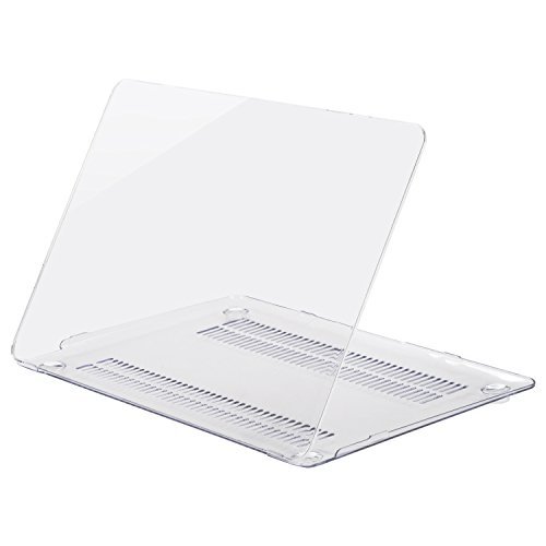Mosiso Plastic Hard Case Cover for MacBook 12 Inch with Retina Display Model A1534 (Version 2017/2016/2015), Crystal Clear
