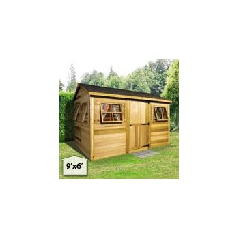 Amazon com : Cedarshed Shed 16 x 8 ft  Boathouse Garden Shed