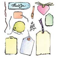 - Tags Unmounted Rubber Stamp Set (50004)