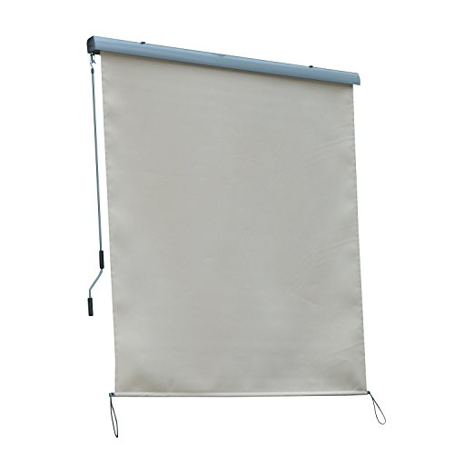 Outsunny Outdoor Pull Down Roller Sun Shade (6ft x 6.5ft) by Outsunny