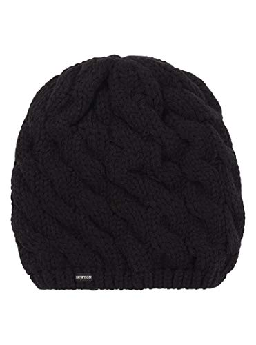 Burton Women's Birdie Beanie, True Black W20, One Size (Burton Womens Hat)