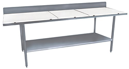 3084 Work Table Backsplash - Winholt DPTSB-3084 Standard Series Stainless Steel Poly Top Work Tables with Under Shelf and Backsplash, 84