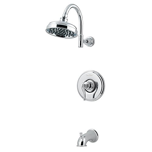 -8YPC Ashfield 1-Handle Tub and Shower Combo Trim with Rain Can Shower Head, Chrome ()