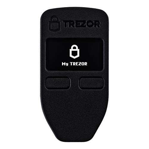 Trezor One Cryptocurrency Hardware Wallet Black - Securely Stores Cryptocurrency Private Keys & Passwords. Quick & Easy to Use for Windows, macOS, Linux. Instructions & USB Cable Included.