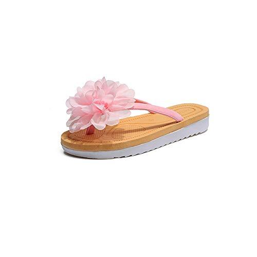 Fleurs Couleur et pour 40 3 EU 2 Pantoufles Beige Taille Femmes Flip Flops Chaussures Beige Yiwuhu Sauvage Sauvages d4wHvxnqdU