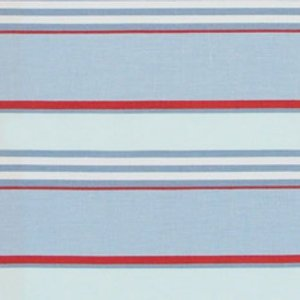blue and red club stripe fabric by serena & lily 110