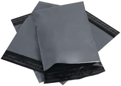 Bolsas de envío de plástico con cierre autoadhesivo, color gris, disponibles en diferentes tamaños y cantidades, de plástico, color gris 17