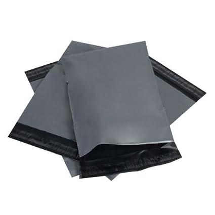 Fuerte autoadhesivo gris bolsas de correo disponible en diferentes tamaños y cantidades Poly envases de plástico sobres de envío postal, color gris ...