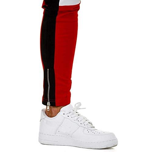 Semplice Stile Jogging Uomo Bianca Per Lanceyy Pantaloni Da U8vq8AF
