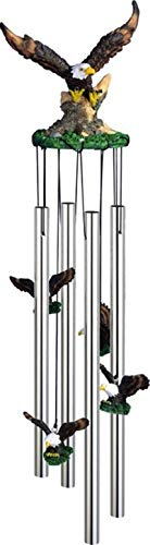 StealStreet SS-G-41272 Wind Chime Round Top Eagle Bird for sale  Delivered anywhere in USA