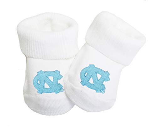 (Future Tailgater North Carolina UNC Tar Heels Baby Toe Booties)