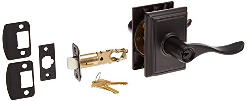 Schlage Hardware Panic (Schlage Lock Company F51ALAT716GRW Latitude Keyed Entry F51A Panic Proof Door Lever with Greenw, Aged Bronze)