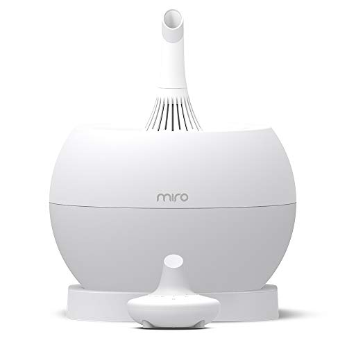Miro NR07G humidifier - Completely Washable Humidifier, Easy to Clean, Easy to Use - Cool Mist, Sanitary, Top-Fill Ultrasonic Humidifier with Whisper Quiet and Powerful Output