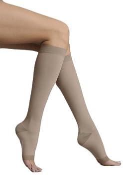 Juzo Silver Knee High Short Open Toe 30-40mmHg, IV, Silver