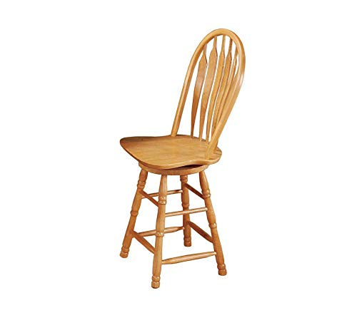 Wood & Style Furniture Swivel Barstool, 24