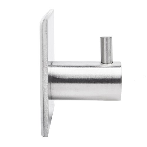 80%OFF Leyden TM Self Adhesive Single Coat and Robe Hook Hold Stick to Bathroom Lavatory, Brushed SUS 304 Stainless Steel
