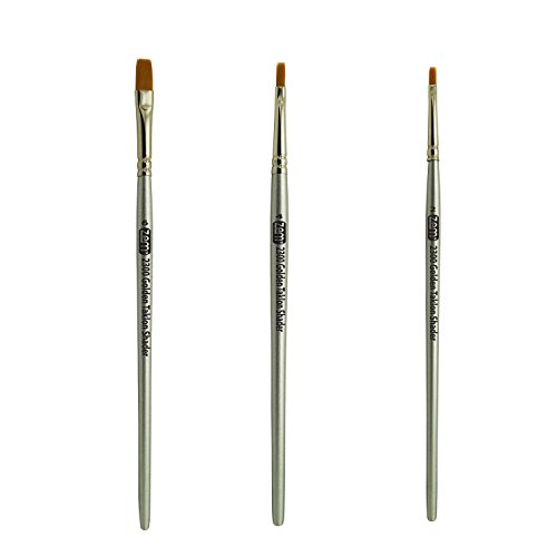 ZEM BRUSH Golden Taklon Shaders Set 2, 4, 6 (Flat Shader Golden Taklon Brush)