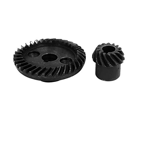 - uxcell 90 Degree Shaft Angle Replace Part Conical Spiral Bevel Helical Gear Set