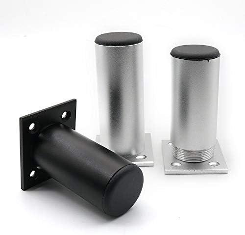 Negro para Cocina Gabinete Gabinete Encimera Barra Mesa Escritorio Sof/á 4 Piezas pies muebles aleaci/ón aluminio Supporting foot Patas Muebles Pies Muebles Perfil Cuadrado Altura 80mm