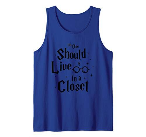 Closet Tank - No one Should Live In a Closet Shirt LGBT gay Pride Tank Top
