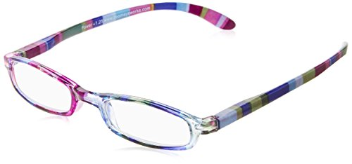 Wink Fancy Slim Blue Stripe Reading Glass with Matching Case