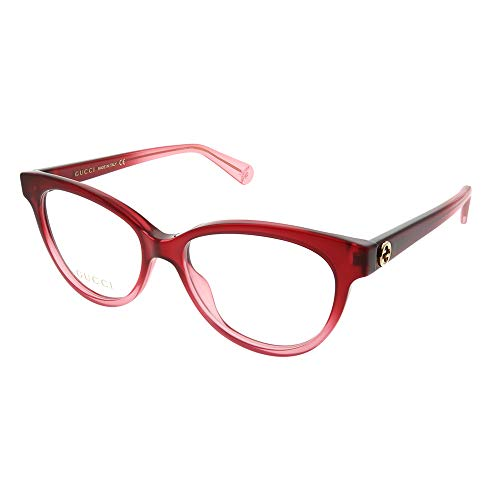 Gucci Gucci Logo GG 0373O 005 Red Plastic Cat Eye Eyeglasses ()