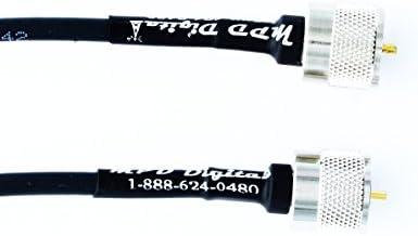 [해외]US Made PL259 UHF Male Jumper - Andrew Commscope CNT-240 Coaxial Cable | Ham or CB Radio Antenna Coax UHF VHF HF Antenna RF Transmission Line PL-259 Connector LMR240 (5-feet) / US Made PL259 UHF Male Jumper - Andrew Commscope CNT-2...