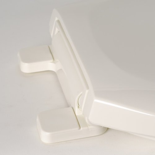 cheap Comfort Seats C1B3E4S-02 EZ Close Deluxe Plastic Toilet Seat, Elongated, Biscuit