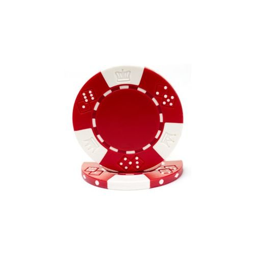 Trademark Poker Lucky Crown 50 Poker Chips, 11.5gm, Red