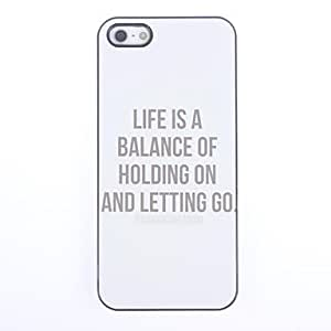 TOPMM Hold ON and Let GO Design Aluminium Hard Case for iPhone 5/5S