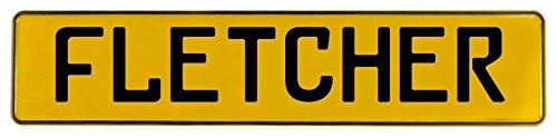 Vintage Parts 630080 Fletcher Yellow Stamped Aluminum Street Sign ()