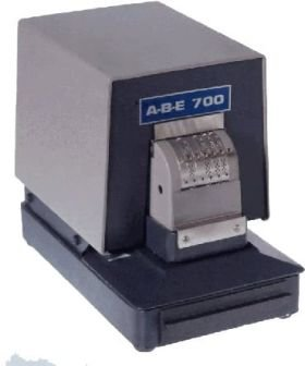 ABE Perforator 700-N Electric 6 Wheel Numbering by ABE