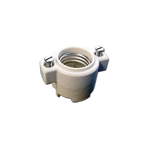 Leviton 9885 Medium Base, One-Piece, Keyless, Incandescent, Unglazed Porcelain Lampholder, White