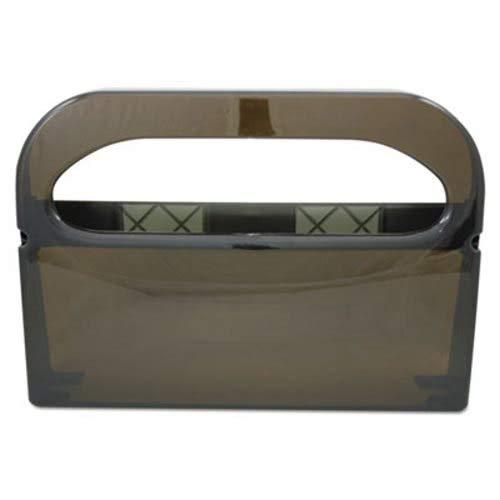 Hospital Specialty Half-Fold Toilet Seat Cover Dispenser Smoke (4 Units) by Hospeco