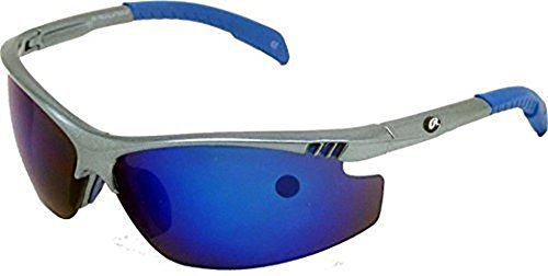 Rawlings RY109 RV Shatter Proof Youth/Intermediate Athletic Sunglasses 10220219.SPT Grey/Blue Ages - Sunglasses Closeout