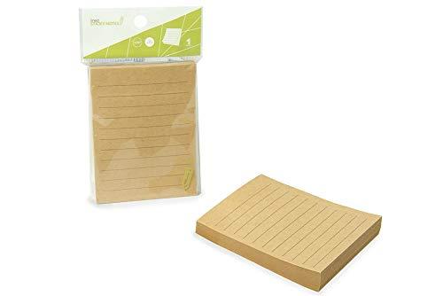 12-Pack Eco Kraft Paper Sticky Notes (Paper Sticky Notes Kraft)