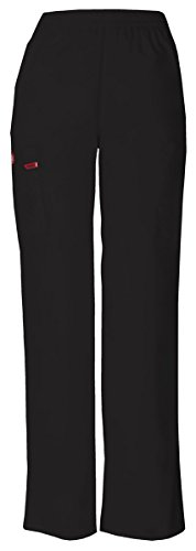 Dickies Women's Natural Rise Pull-On Pant_Black_Medium,86106 by Dickies