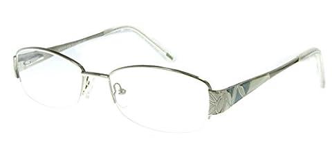 Aloha Eyewear Tek Spex 1002 Women's Photo-Chromatic Progressive Bifocal Reader Glasses / Sunglasses (Chrome w/ Regular Tint - 2.0 Rx Eyewear