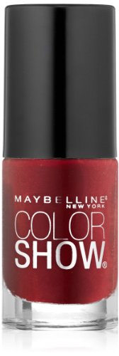 Maybelline New York Color Show Nail Lacquer, Rich In Ruby, 0.23 Fluid Ounce