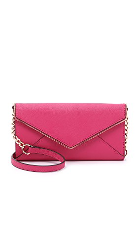 Rebecca Minkoff Cleo On a Chain Wallet Bright Fuchsia One Size