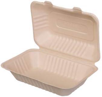 bio3 Contenedor desechable Comida para Llevar, 100% Biodegradable y Compostable, 18x13cm 600ml, Paquete con 25 Piezas